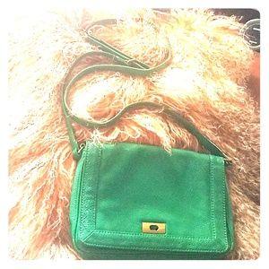 Green J. Crew leather bag